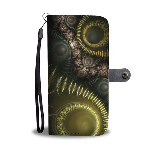 Steampunk Fractal Phone Wallet Case
