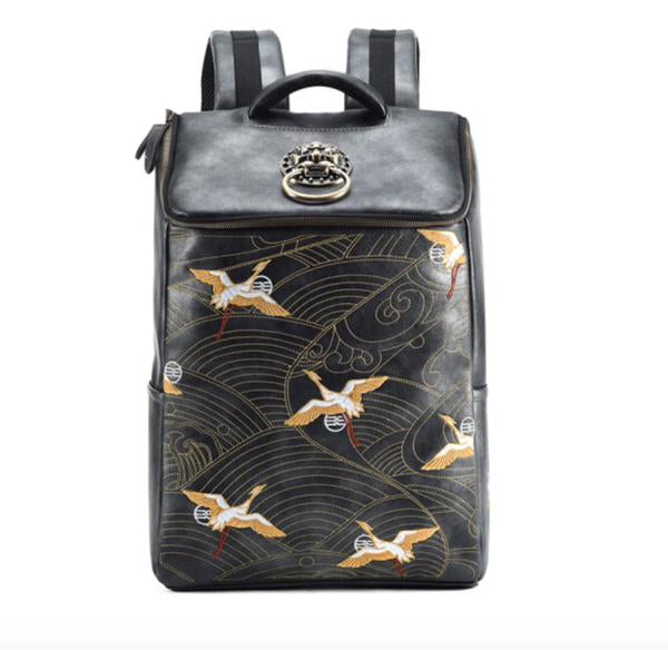 Golden Crane Backpack