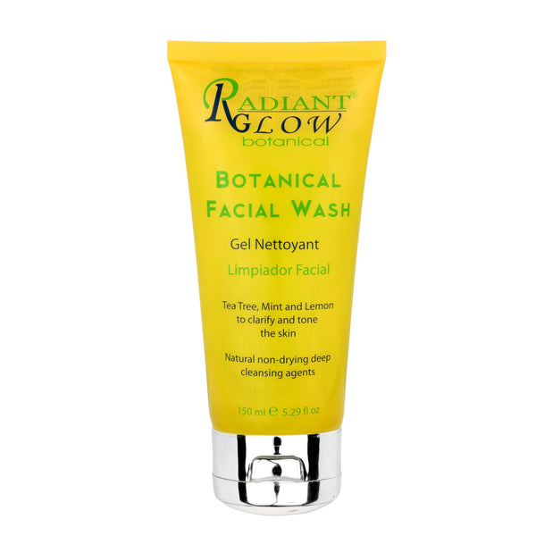 RADIANT GLOW BOTANICAL FACIAL WASH GEL - Organic Tea tree, mint & lemon to clarify and tone the skin