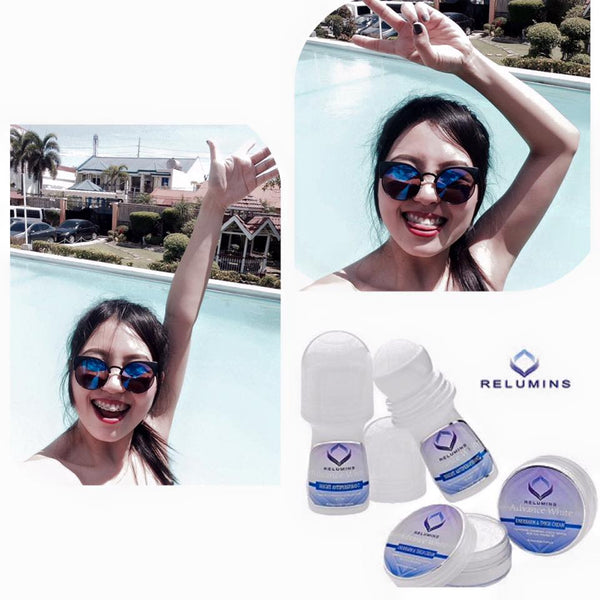RELUMINS ADVANCE WHITE INTIMATE SET- WHITENING DEODORANT ROLL-ON & WHITENING INTIMATE CREAM - ShanShar