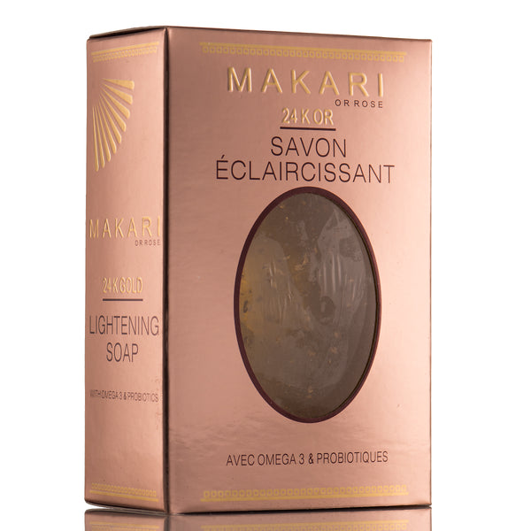 MAKARI - 24K ROSE GOLD MOISTURIZING SOAP  Moisture-rich. Rejuvenates glow.  For all skin types as directed