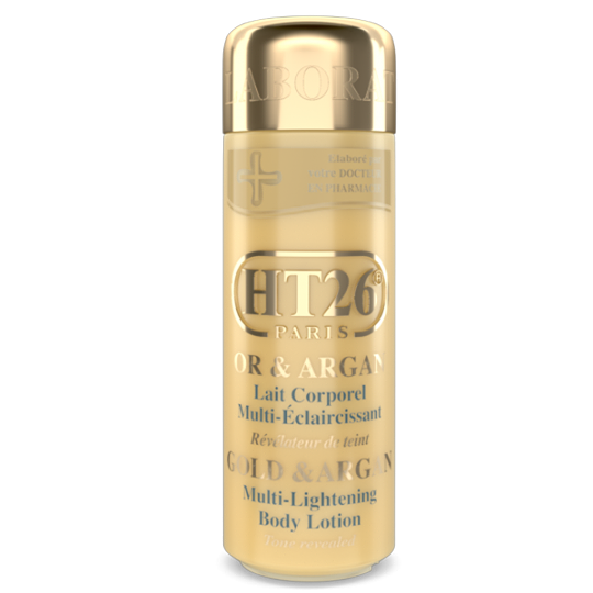 HT26 - Deluxe Lightening body lotion Gold & Argan / Lait Corporel Or et Argan / Lait de luxe et de qualité