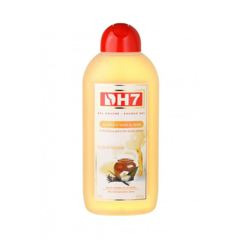 DH7 - Honey & Vanilla Shower Gel  -  softens your skin and keeps it clean 750 ml