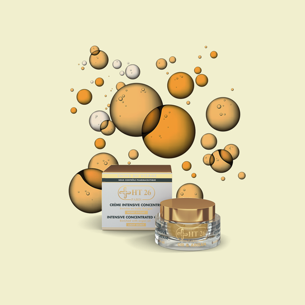HT26 PARIS - Intensive Concentrated Face Cream Gold & Argan , Clean the dark areas & evens skin tone - ShanShar