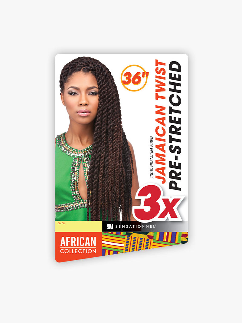 SENSATIONNEL AFRICAN COLLECTION -3X JAMAICAN TWIST PRE-STRETCHED 36""