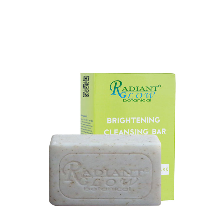 RADIANT GLOW BOTANICAL BRIGHTENING CLEANSING BAR 200G / SOAP-FREE with GOAT MILK and TEA TREE, for face and body.