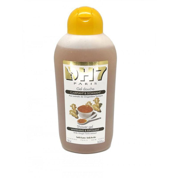 DH7 - Shower Gel Lightening and Exfoliating Tonic Ginger - cleans, tonifies and lightens your skin efficiently 750 ml