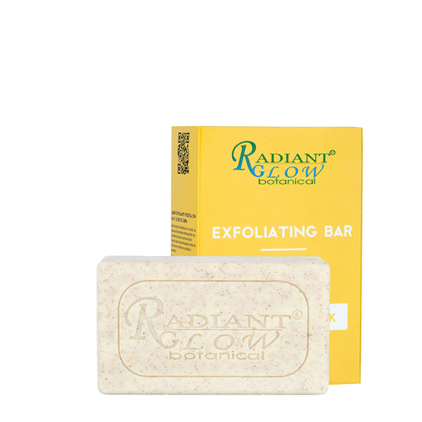 RADIANT GLOW EXFOLIATING ORGANIC SOAP - Removes toxin & impurities Exfoliates, dissolves dead skin 200G