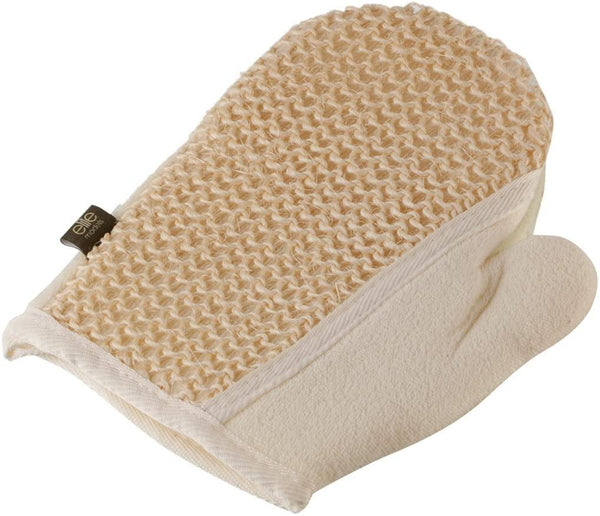 Cotton Bath Glove Body Scrubber with Gentle Skin Exfoliating Power Spa Scrub Loofah