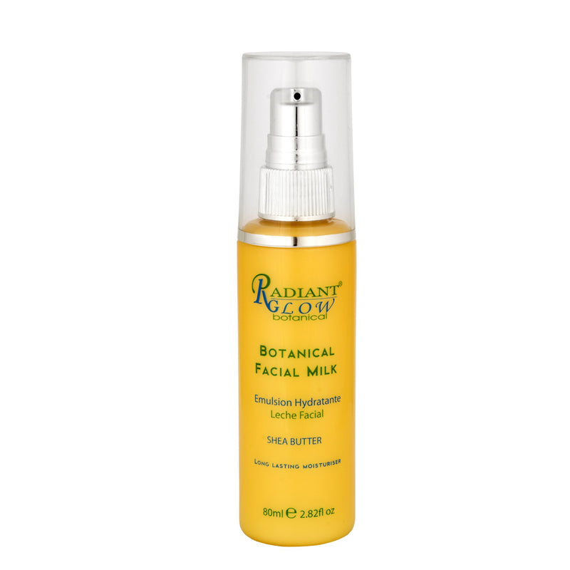 RADIANT GLOW BOTANICAL FACIAL MILK 80ML. Restore smoothness, suppleness, balance oil secretions & elasticity.