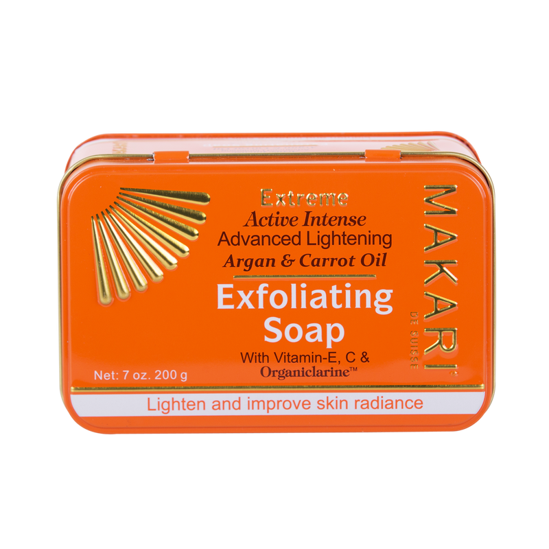 MAKARI - EXTREME ARGAN & CARROT OIL EXFOLIATING SOAP - Exfoliates. Lightens. Unifies tone.  For all skin types except sensitive - ShanShar