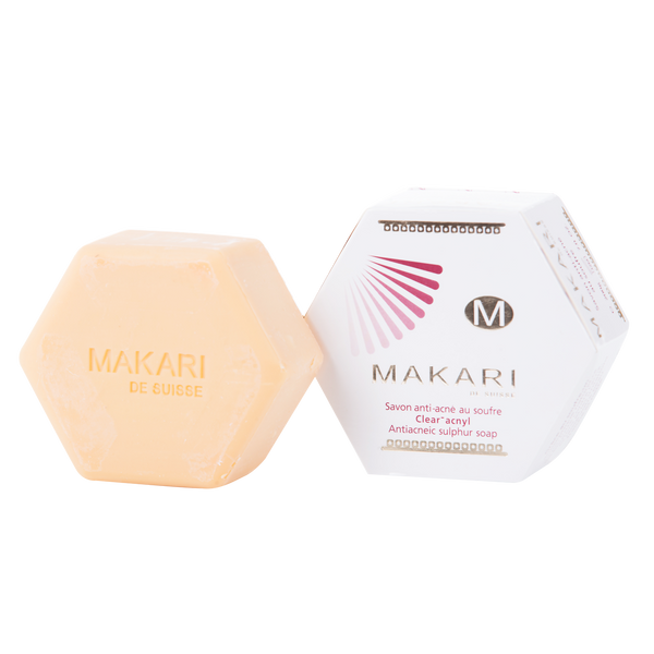MAKARI - SULFUR ACNYL SOAP - Detoxifies. Controls oil. Reduces acne.  For oily and acne-prone skin types - ShanShar