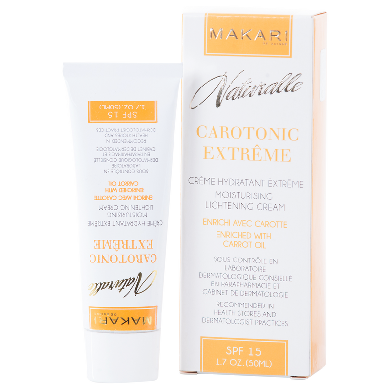 MAKARI - CAROTONIC EXTREME TONING CREAM SPF 15 Conditions. Fades blemishes. Brightens.  For oily and acne-prone skin types - ShanShar