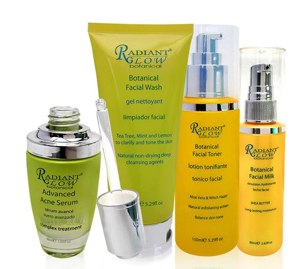 RADIANT RADIANT GLOW BOTANICAL  - Acne Solutions Clear Skin System Starter Kit