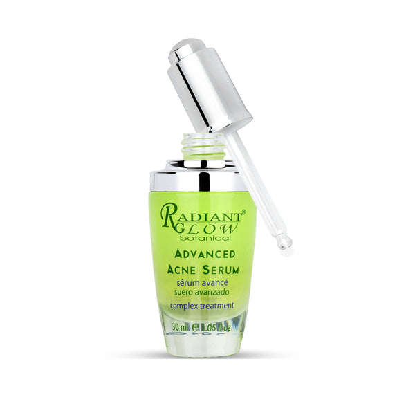 RADIANT GLOW BOTANICAL ADVANCED ACNE SERUM. Clarify and Calm acne-prone skin - Hydrate & Fresh feeling fresh