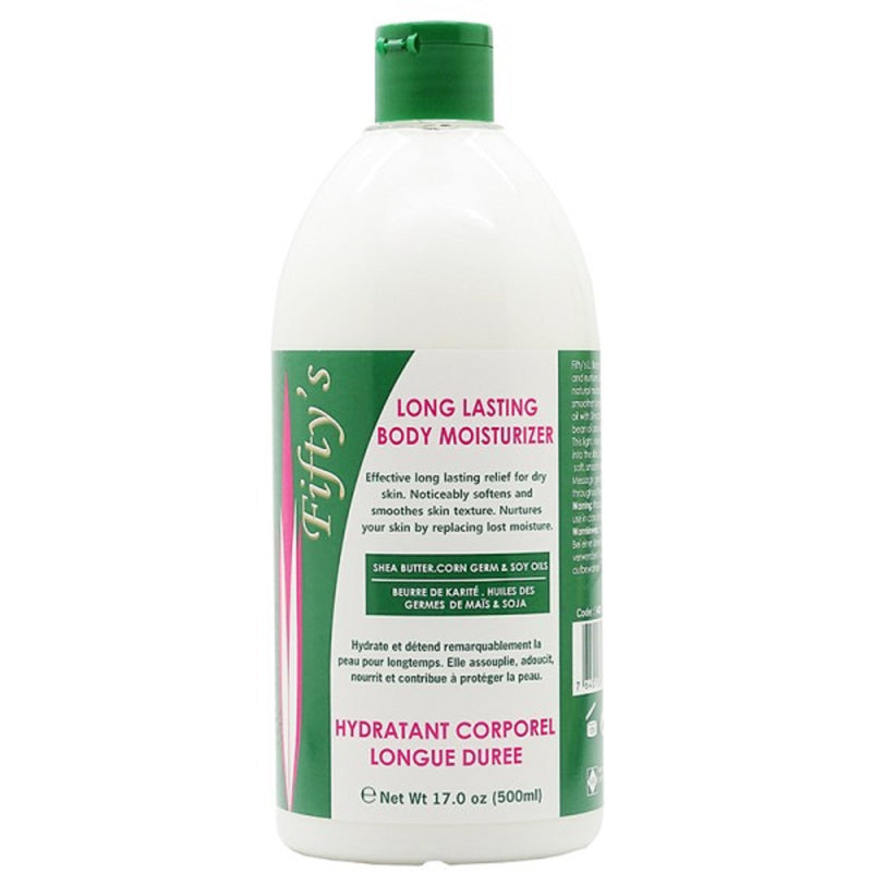 FIFTY'S BEAUTY - LONG LASTING (LL) BODY MOISTURIZER 500 ml (17.0 fl.oz)