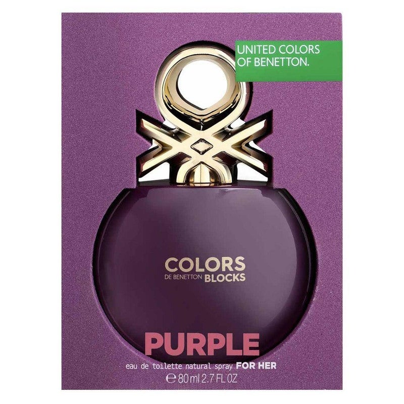FRAG - Benetton Colors Blocks Purple Eau De Toilette Spray For Women 2.7 oz (80mL)