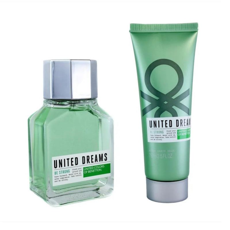 FRAG - BENETTON UNITED DREAMS BE STRONG 2 PCS SET FOR MEN: 3.4 (100mL) SPRAY