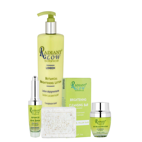 RADIANT GLOW  - Botanical Brighten & regenerate Skin  SET 4pcs
