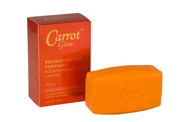 GLOW - Carrot Glow Exfoliating Purifying Soap With Carrot Oil & Vitamin A, K & E complex - ShanShar