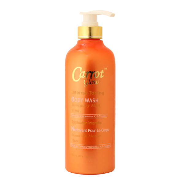 Carrot Glow Intense Toning Body Wash Rosemerry mint With Carrot Oil & Vitamin A, K & E complex - ShanShar
