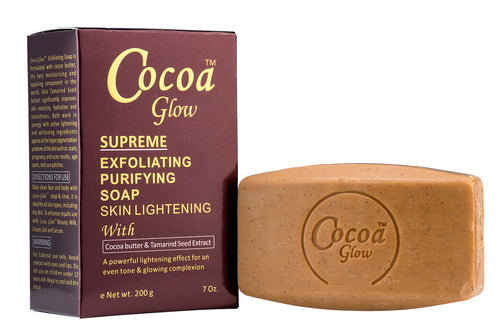 GLOW - Cocoa Glow Supreme Exfoliating Soap With Cocoa Butter & Tamarind Seed Extract