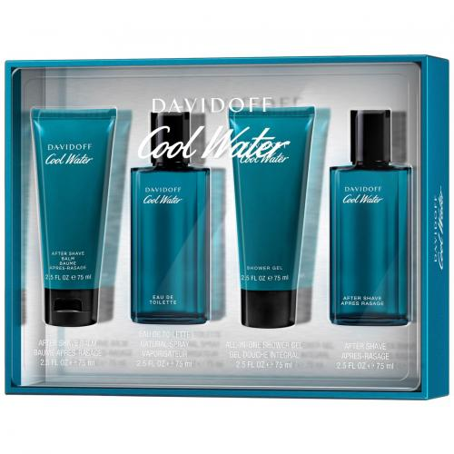 FRAG - COOLWATER 4 PCS SET FOR MEN: 2.5 oz (75mL) SPRAY (WINDOW BOX)