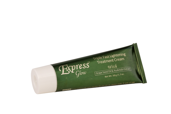 GLOW - Express Glow Triple Fast Lightening Cream With Grapeseed Oil & Asafetida Extract - ShanShar