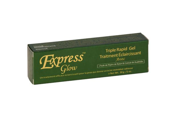 GLOW - Express Glow Triple Fast Lightening Treatment Gel With Grapeseed Oil & Asafetida Extract - ShanShar