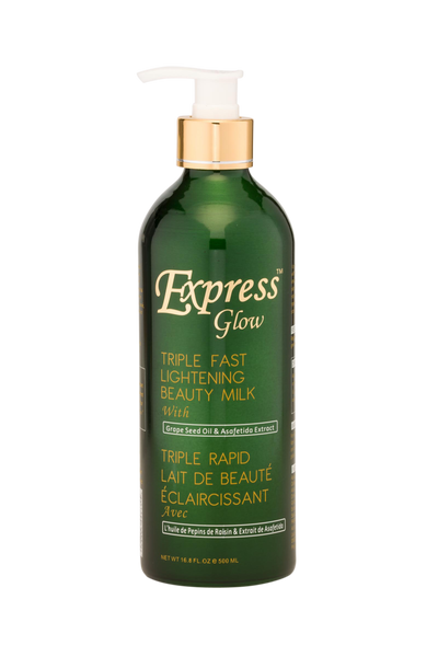 GLOW - Express Glow Triple Fast Lightening Beauty Milk With Grapeseed Oil & Asafetida Extract - ShanShar