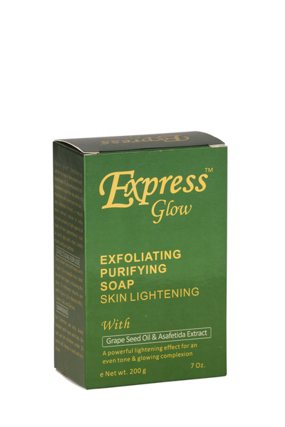 GLOW - Express Glow Exfoliating Purifying Soap With Grapeseed Oil & Asafetida Extract - ShanShar