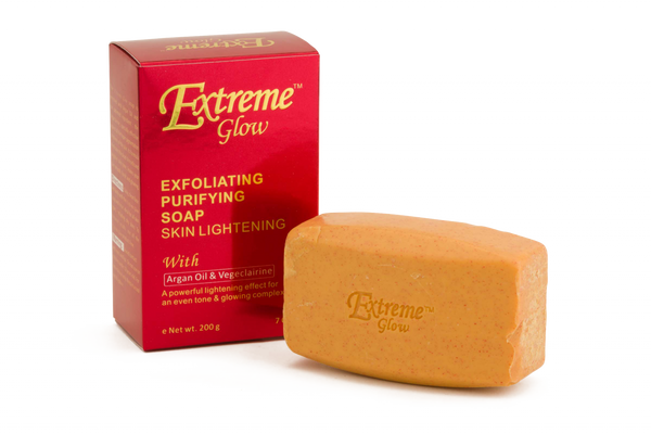GLOW - Extreme Glow Exfoliating Purifying Soap With Argan Oil & Valerian Extract - Skin lightening soap - ShanShar