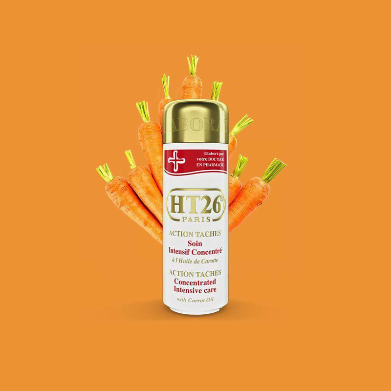 HT26 PARIS - Intensive Concentrated body lotion with carrot oil (GOLD):  unify complexion ,relieve dryness. / Lait action taches à l'huile de carotte - ShanShar