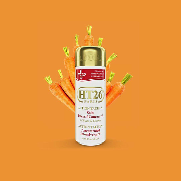 HT26 - Intensive Concentrated body lotion with carrot oil unify complexion ,relieve dryness. / Lait action taches à l'huile de carotte - ShanShar