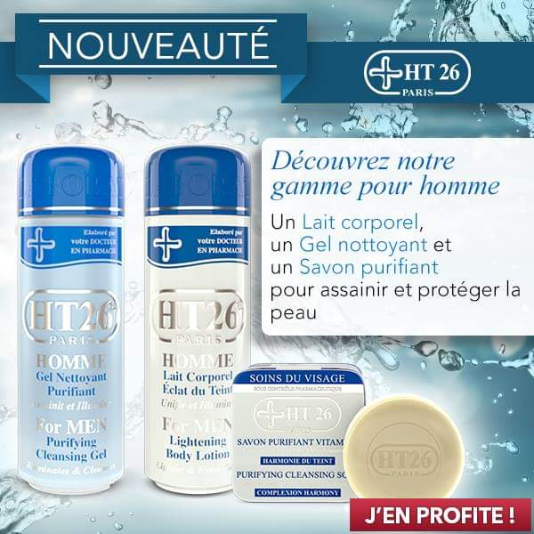 HT26 PARIS - Men Set - Nourishing, lightening and antisapstain fordry skin with pigmentation disorders