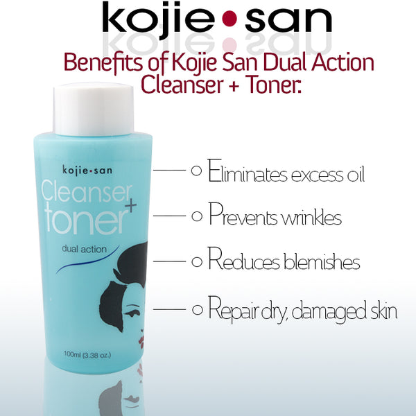 KOJIE SAN DUAL ACTION CLEANSER + TONER - SUPER SAVINGS - ShanShar