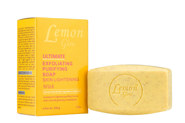 LABELLE GLOW - Lemon Glow Ultimate Exfoliating Purifying Soap With Lemon Peel & Red Lingonberry Seed Oil - ShanShar