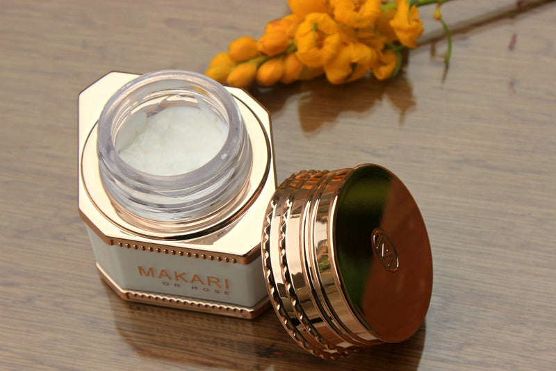 MAKARI - 24K ROSE GOLD NIGHT TREATMENT CREAM / Blurs lines. Improves elasticity. Boosts hydration.  For dry, normal, or maturing skin types
