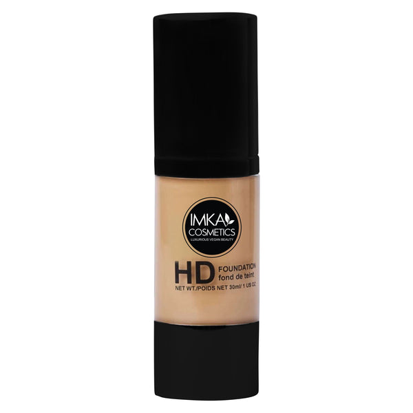 Vegan HD Liquid Foundation With Hyaluronic Acid - Full Coverage &  natural finish,  30ml.