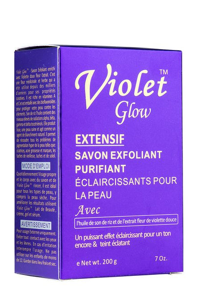 GLOW - Violet Glow Extensive Exfoliating Purifying Soap With Sweet Violet Flower Extract & Rice Bran Oil - ShanShar