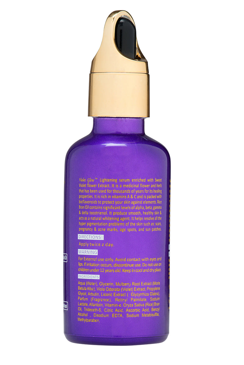 LABELLE GLOW - VIOLET GLOW EXTENSIVE LIGHTENING SERUM With Sweet Violet Flower Extract & Rice Bran Oil - ShanShar