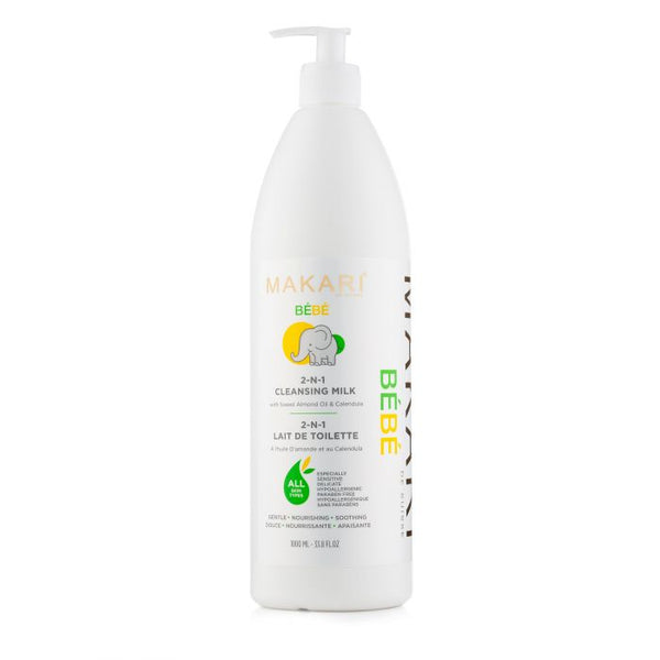 MAKARI - BABY® 2-in-1 Cleansing MILK 1000 ML. / Wet/Dry nourishing cleansing lotion