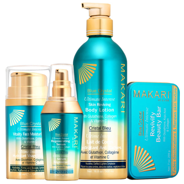 MAKARI - BLUE CRYSTAL SET  Ultimate Skin Reviving with Glutathione, Vitamin C & Collagen . For all skin types - ShanShar