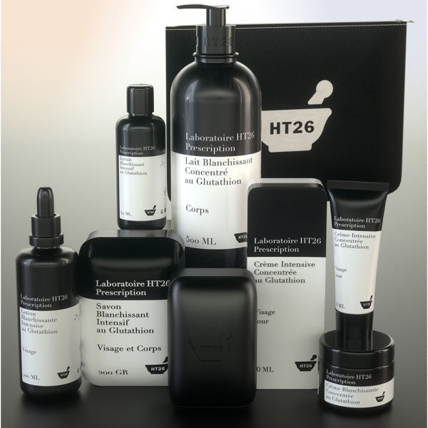 HT26 Prescription Box: treats stains and slows skin aging.   a natural, safe-brightening ingredient.