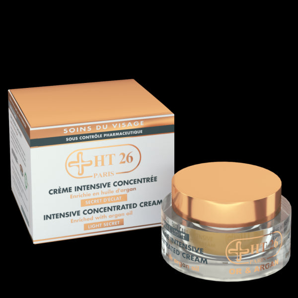 HT26 - Intensive Concentrated Cream Gold & Argan Face Cream, Clean the dark areas and evens skin tone - ShanShar