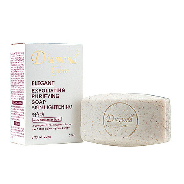 LABELLE GLOW - Diamond Glow Elegant Exfoliating Purifying Soap With Amla & Dandelion Extract - ShanShar