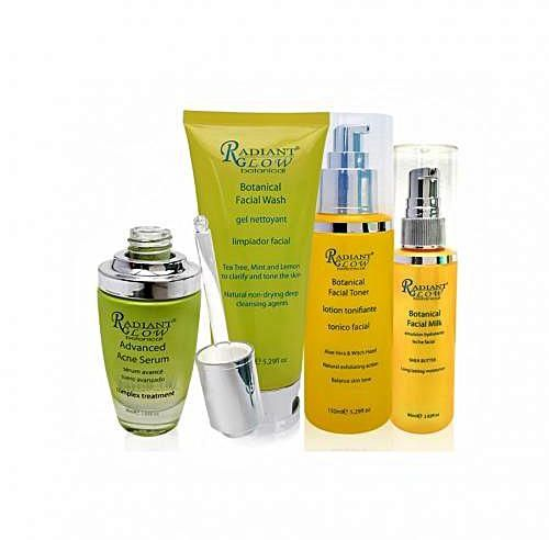 RADIANT GLOW BOTANICAL  - Acne Solutions Clear Skin System Starter Kit