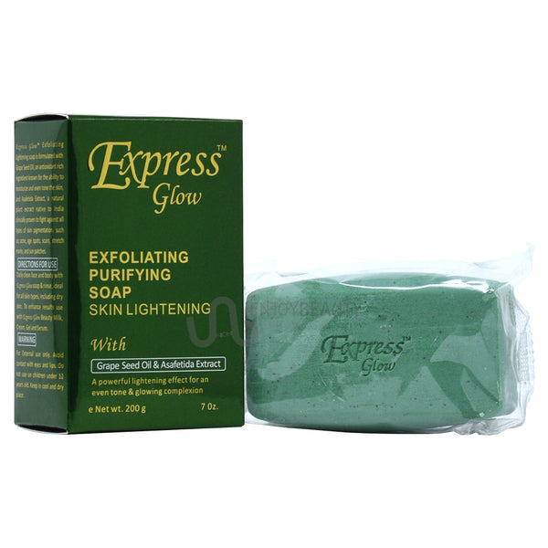 GLOW - Express Glow Exfoliating Purifying Soap With Grapeseed Oil & Asafetida Extract