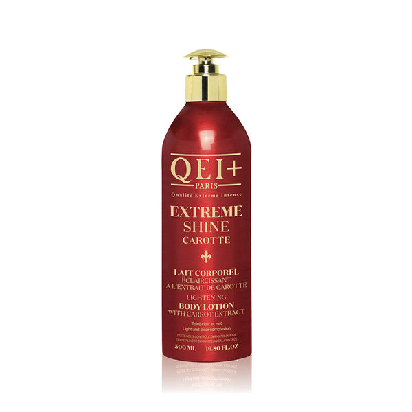 QEI+ Extreme Shine Carotte Lightening Body Lotion  with carrot extract for a glowing body skin.16.80 oz