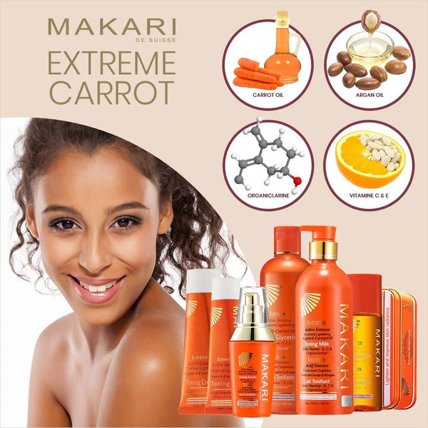 MAKARI - EXTREME ARGAN & CARROT OIL TONING MILK - Lightens spots. Illuminates skin. Unifies tone.  For all skin types except sensitive - ShanShar